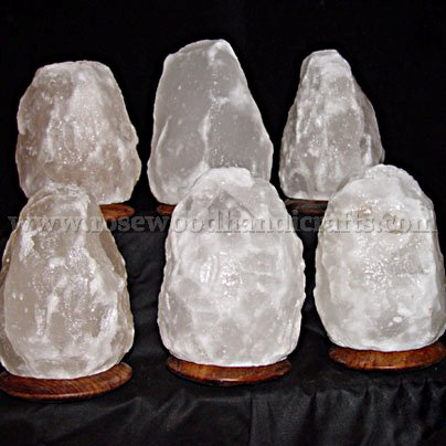 White Natural Salt Lamps