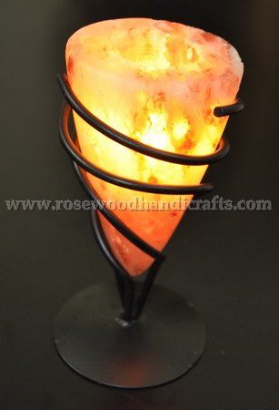 Wrought Iron Salt Candle Holder