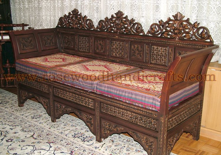 Antique Wooden Sofa ~ Antique sofa set smileydot