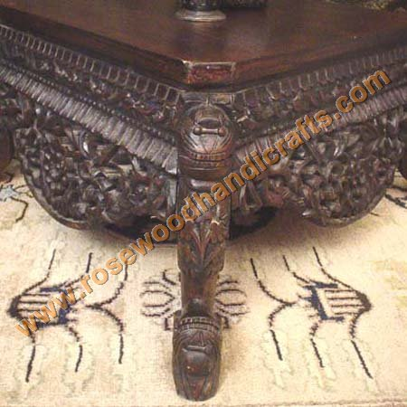 Rosewood Carved Coffee Table