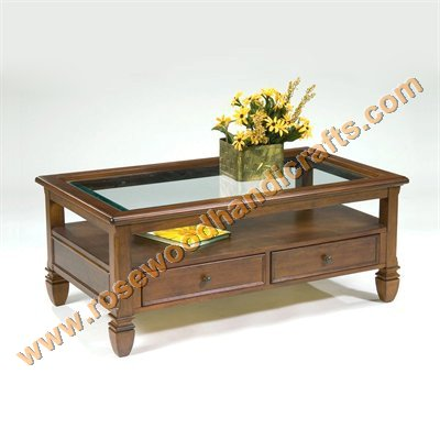 Rosewood Coffee Table Center