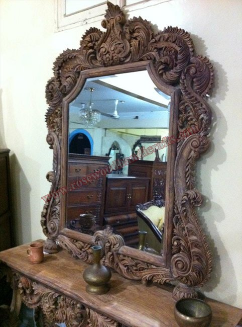 Wooden Full Carved Mirror