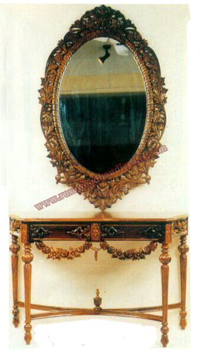 Wooden Console with Frame Gulf Styler