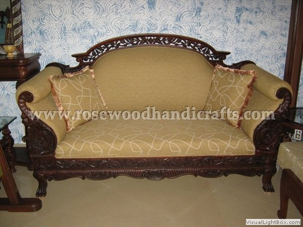 Backless Couch-Wooden Sala Set-Wood Couch-Love seat