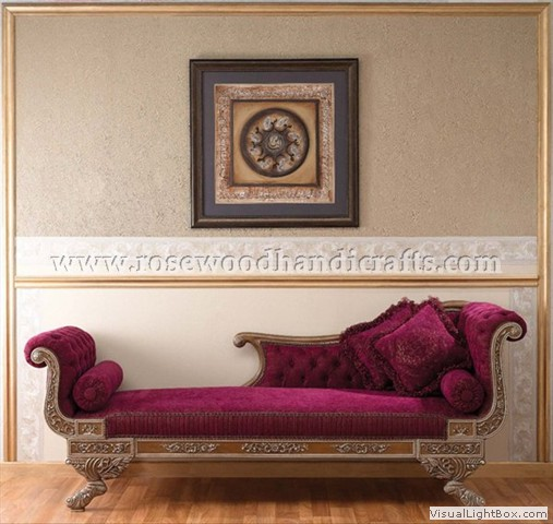 Rosewood Dewan With Carved 2 Seater