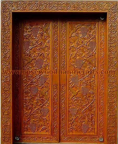 Wooden doors wooden carved door rosewood doors for Door design in pakistan