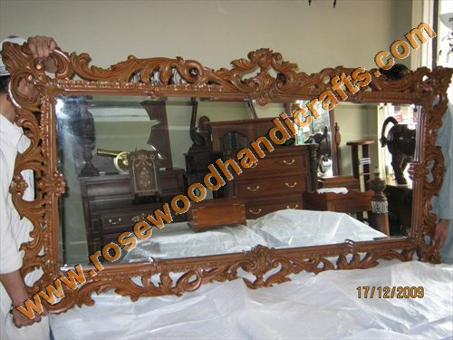 Wooden Full Carved Mirror Frame
