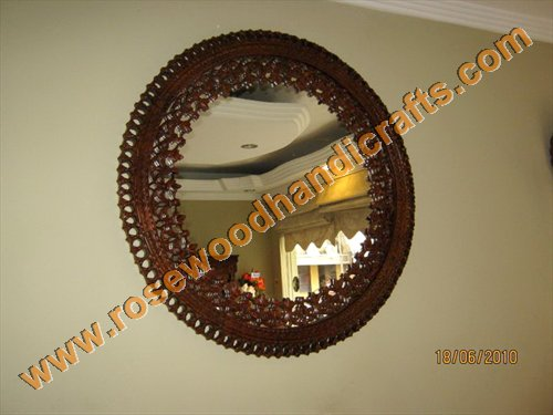 Wooden Carved Mirror Frame<