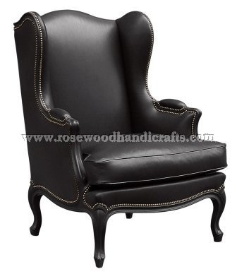 Wing Chair With Original Leather