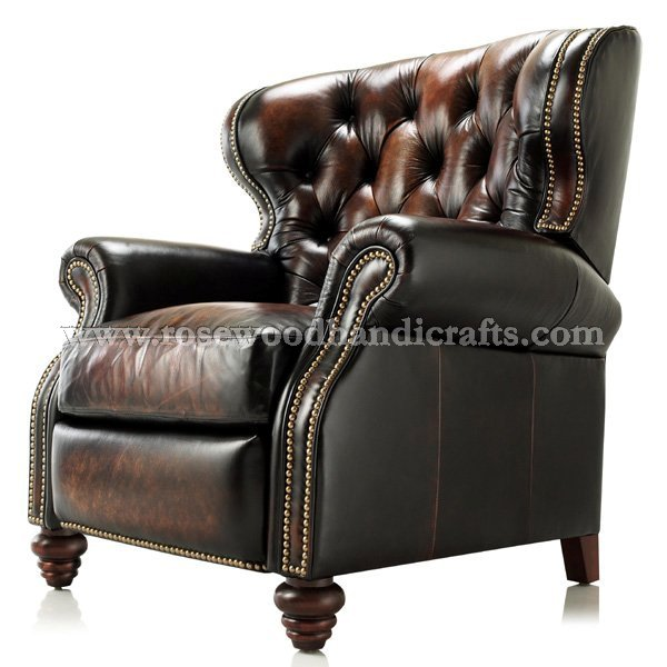 Wing Chair In Rexine