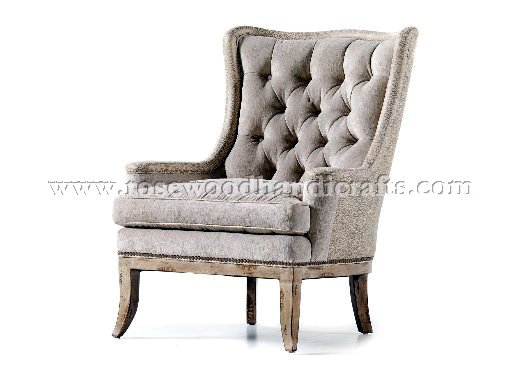 Wing Chair in Fabric
