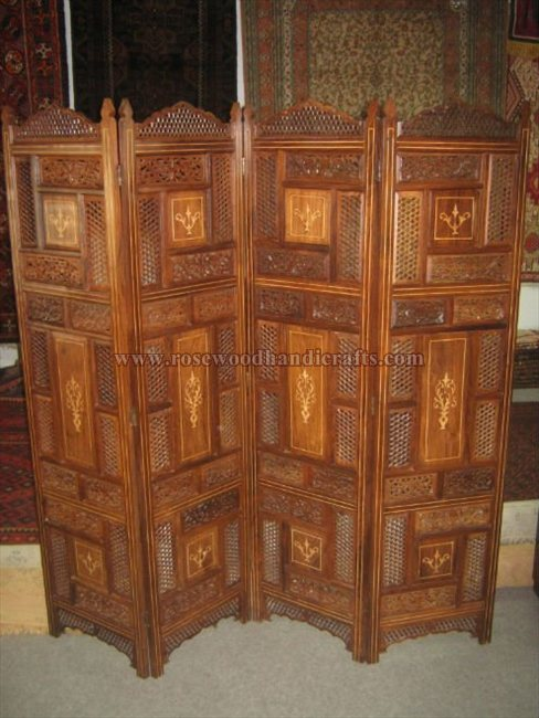 Wooden Folding Screen Room Divider