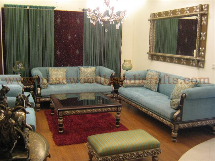 7 seater wooden sofa set designs refil sofa for Room design in pakistan