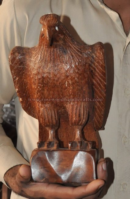 Wooden Eagle On Wooden Box