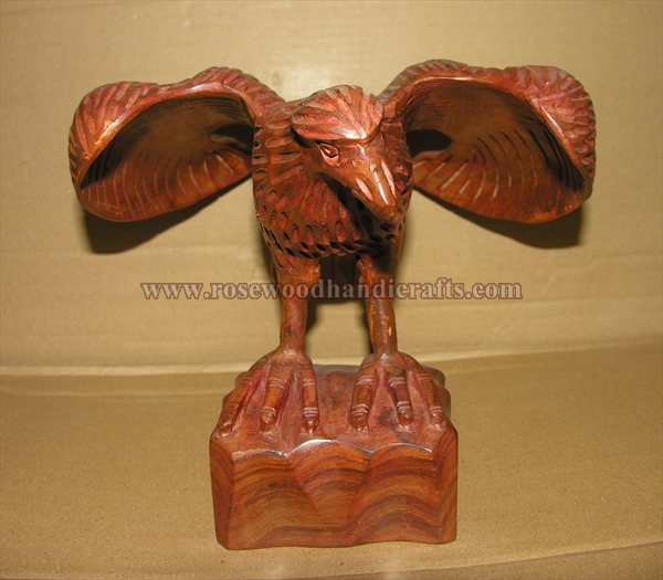 Wooden Eagle Statue