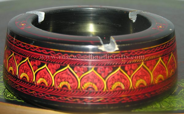 Wooden Lacquer Art Ashtray