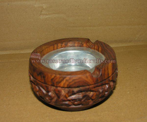 Wooden Carved Ashtray