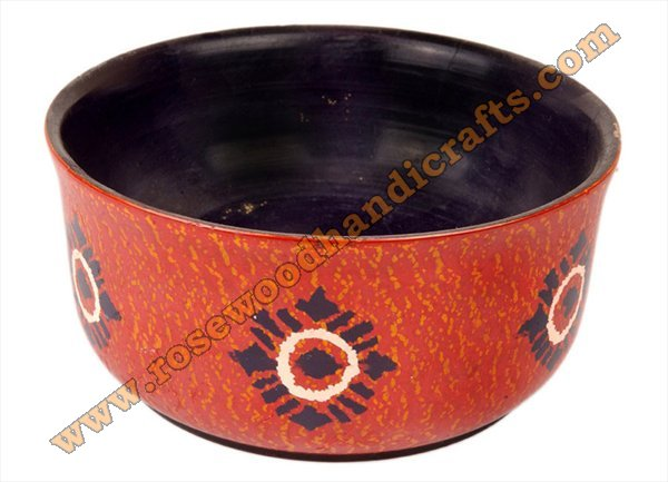 Wooden Lacquer Color Bowl