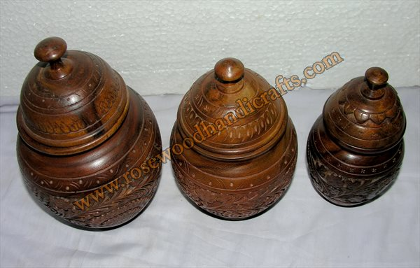 Wooden Candy Jar