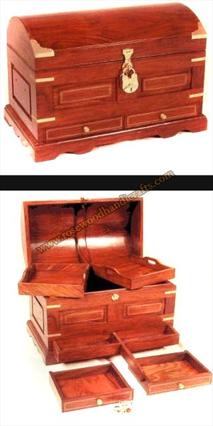 Wooden Captain Chest With 2 Drawers