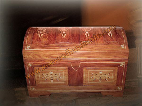 Wooden Captain Chest Wood inlaid