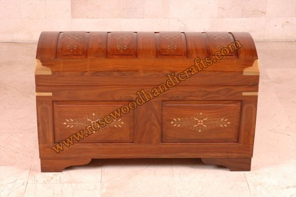Wooden Captain Chest Solid Top Panel