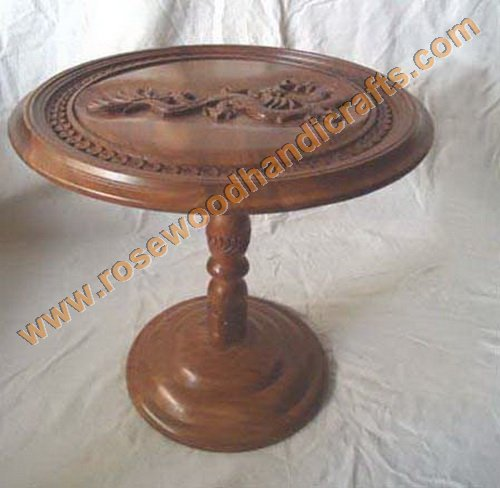 Dargon Shape Top Wooden Round Table