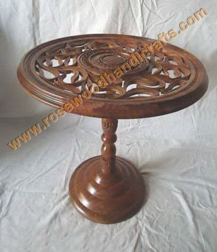 Wooden Round Carved Table