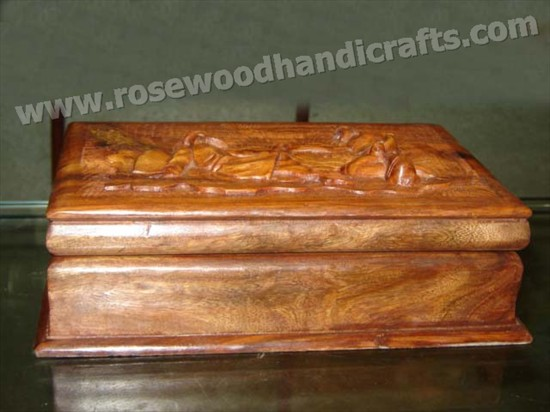 Wooden Carved Jewelry Box