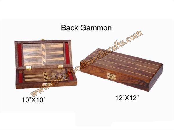Wooden Back Gammon Game
