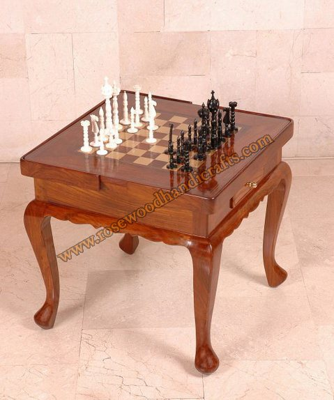 Wooden Chess Game Table