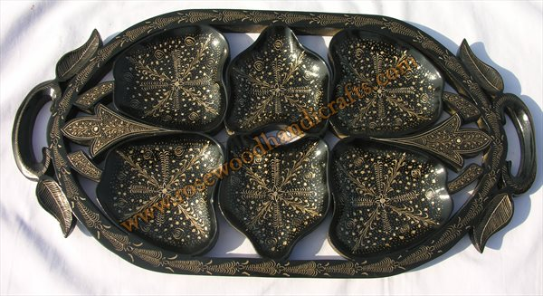 Wooden Lacquer Dry Fruit Tray
