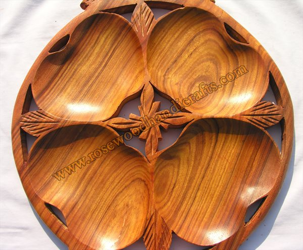 Wooden Round Dry Fruit Tray