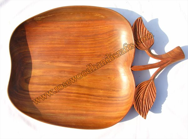 Apple Shape Wooden Dry Tray