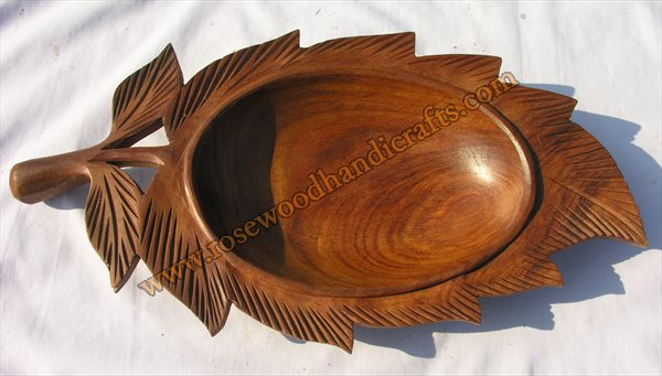 1 Piece Leaf Shape Dry Fruit Tray