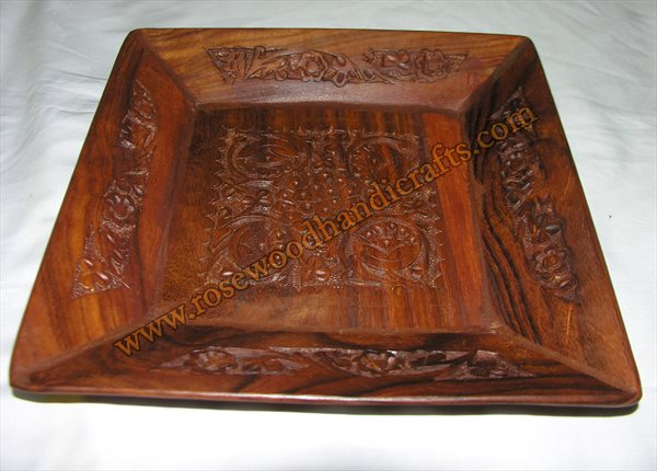 Wooden Engraved Dry Fruit Tray