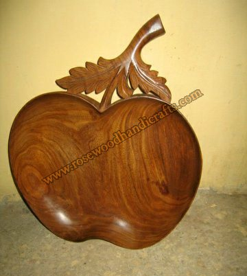 Wooden Apple Shape Dry Fruit Tray