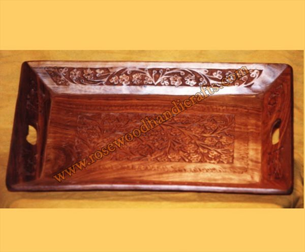 Wooden Carved Serving Tray