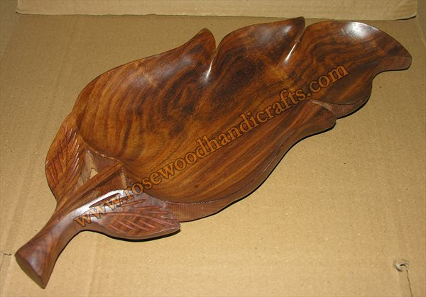 Wooden Leaf Shape Dry Fruit Tray