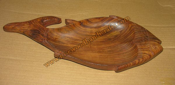 Wooden Fish Shape Dry Fruit Tray