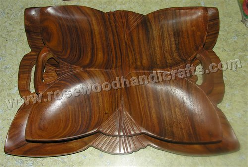 Wooden Flower Shape Dry Tray