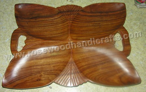 Wooden Flower Shape Dry Tray<