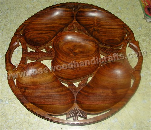 Wooden Round Shape Dry Tray