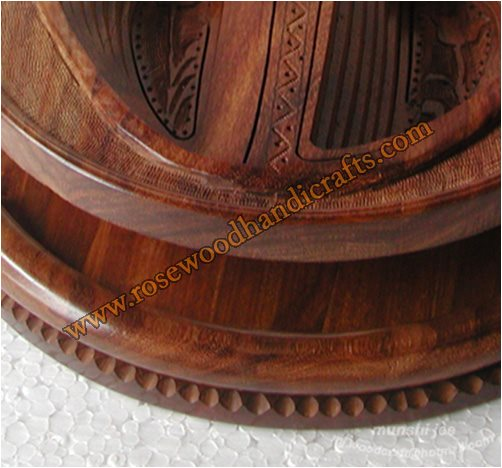 Wooden Cherry Shape 2 Comparments Spring Basket