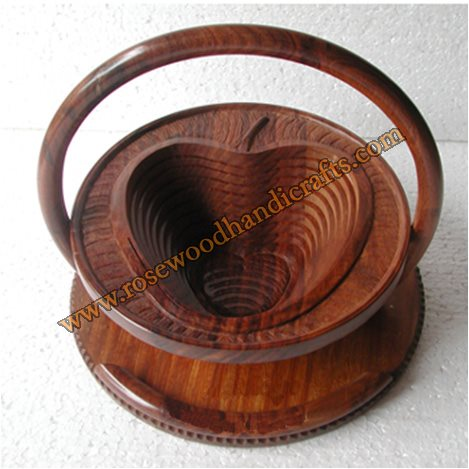 Wooden Cherry Shape Single Compartment Spring Basket