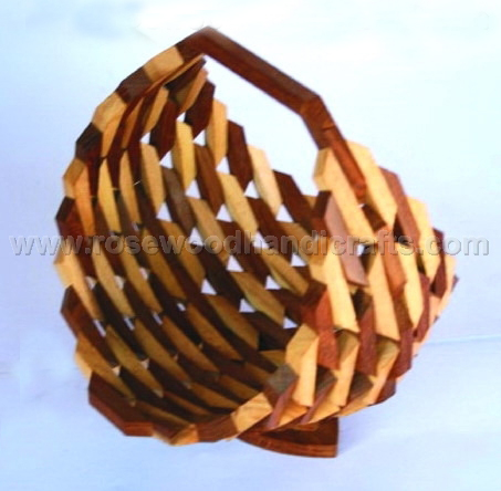 Wooden Small Pieces Of Wood Joint Basket