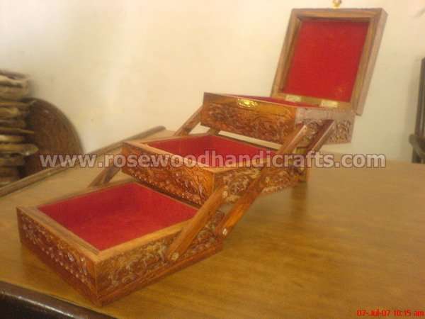 Wooden Folding Jewelry Box