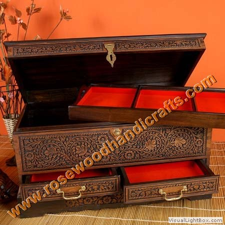 Wooden Jewelry Chest