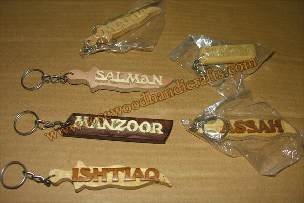 Wooden Different Name Key Chain