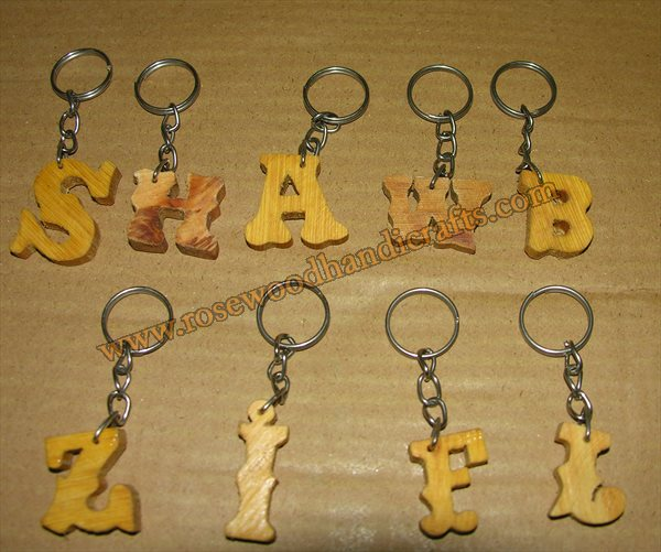 Different Alfabetic Shape Key Chains